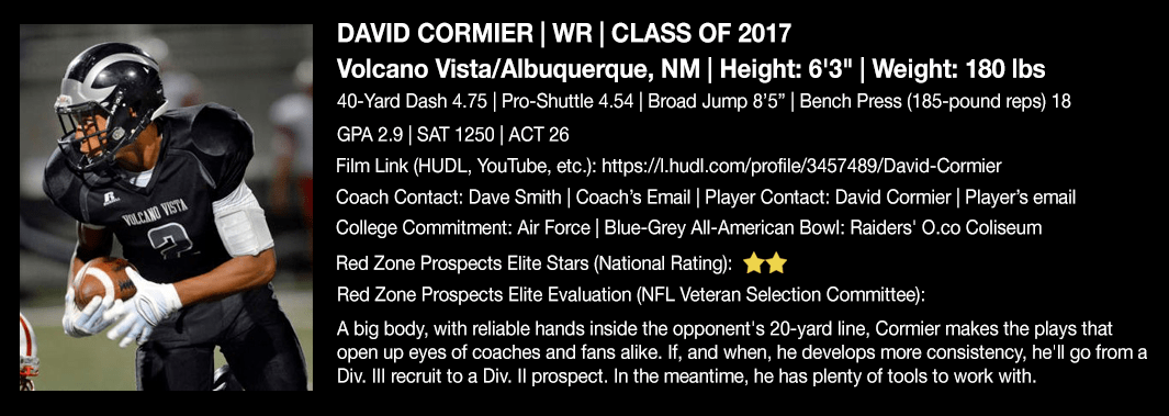 David Cormier profile photo and football stats